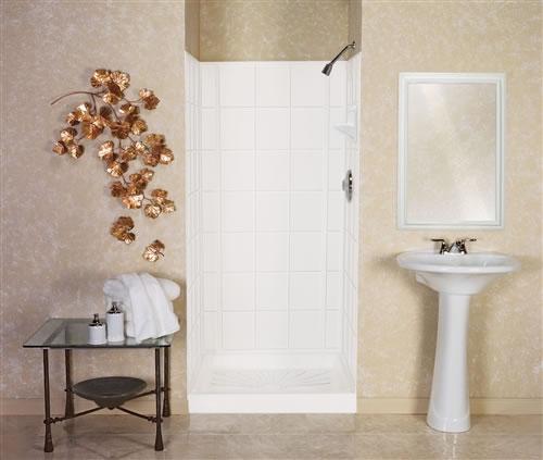 mustee 572t  varistone™ fiberglass shower walls